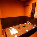 プライベートな飲み会に最適な個室です!間接照明灯る落ち着いた店内でゆったりお過ごしください。