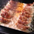 料理メニュー写真【餃子チーズフォンデュ】1人前(2人前からのご注文です)