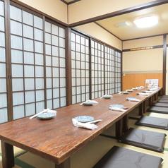 【1階】お座敷個室は、最大16名様まで。