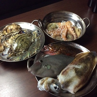 海鮮は瀬戸内海または近海(国産)の天然物