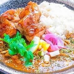 スパイスカレー 伊達鶏の照り焼きチキンver
