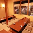 最大50名様でご利用可能の個室です。会社宴会や飲み会など大人数での集まりにピッタリです◎