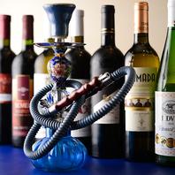 本格的なインテリアや水タバコで非日常を楽しめます!