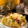 料理メニュー写真のりと大葉の納豆天