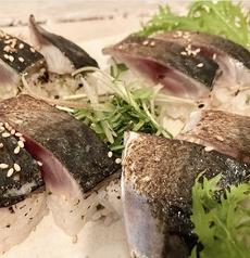 高知県産 真鯖の炙り押し寿司