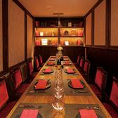 雰囲気抜群!12名様まで対応!モダンな雰囲気のテーブル個室はプライベートな肉会にオススメです★