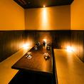 6名様~8名様向けのテーブル席♪温かみのある照明で落ち着いた雰囲気を演出しております。飲み会や女子会に是非ご利用くださいませ!【居酒屋/個室/半個室/女子会/誕生日】