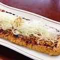 料理メニュー写真≪新潟名物≫栃尾 枡忠さんのャンボ油揚げ炙り(一枚/半分)