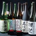 ◆地酒&日本酒-月替わりで選りすぐりの銘酒をご用意♪旬の味覚と一緒にお楽しみください。