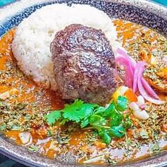 スパイスカレー 牛肉100%のハンバーグver