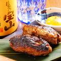 料理メニュー写真黒豚のつくね焼き2本で!!