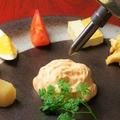 料理メニュー写真ビストロおでん盛りこみ~濃厚エビのエスプーマ~
