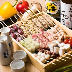 野菜串・牛肉野菜巻き