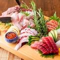料理メニュー写真定番の海の幸『鮮魚刺し盛り合わせ』