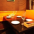 お仕事終わりのお食事や仲の良いご友人とのお食事に最適です♪美味しいワイン片手にお過ごしください。