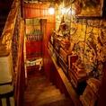 【階段】隠れ家のような階段を上って2階へ★ワクワクしちゃいますね![鹿児島/天文館/バル/飲み放題/宴会/イタリアン/肉/貸切/個室/サプライズ/誕生日/女子会/二次会/ピザ/カフェ夜カフェ]