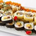 料理メニュー写真3種のロール寿司