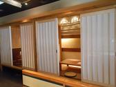 リニューアルされた小上がり個室