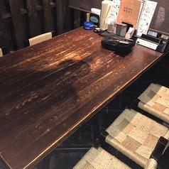 炭火七輪テーブル席