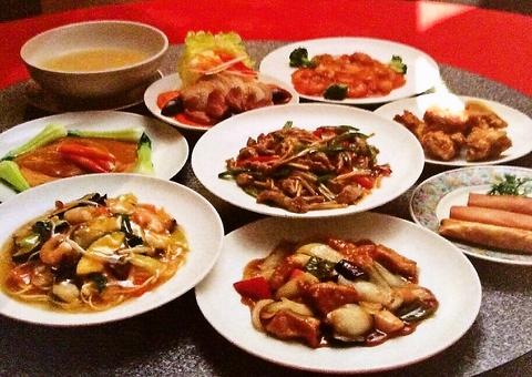 【ファミリーコース (3〜4名様)】◆フルコース料理◆<10品>フカヒレの姿煮付き!! 10000円