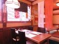 【1階】テーブル席6名掛け