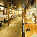 ◆京都駅徒歩2分の和モダン空間-掘り炬燵フロア最大35名様/25名様着席可能なテーブル半個室あり。