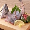 当店自慢の新鮮なお魚。姿盛りは見た目からも贅沢♪