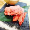 ≪三角バラのゲタのみを使用したゲタカルビステーキを岩塩で≫