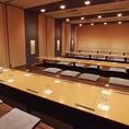 ご宴会用個室は最大70名様まで可能です。