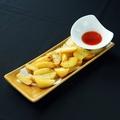 料理メニュー写真皮付きフライドポテト 選べるディップソース