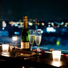 立川の夜景を一望できるカップルシート♪立川 イタリアン ワインバル 合コン 女子会 夜景 貸し切り