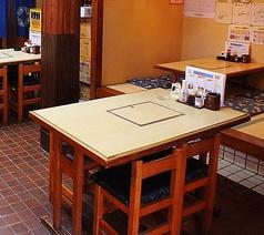 テーブル席もございますので仕事帰りのサク飲みにも◎4人掛け×2卓です。