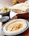 料理メニュー写真【フムスセット】 ~ひよこ豆とごまペーストから作られた定番ディップ~