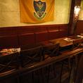 【テーブル席】10名前後の宴会にオススメのお席です。飲み放題付きコースもご予算に応じて様々ご用意☆