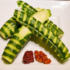 料理メニュー写真ALL¥500均一★もぎたて胡瓜の梅肉もろ味噌添え