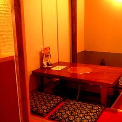完全個室のお席はデートにもおすすめです。