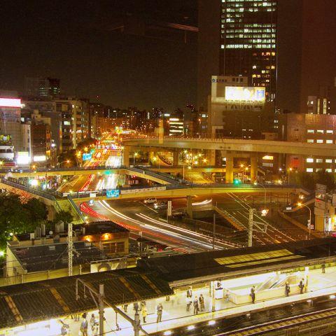 個室からの飯田橋夜景