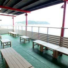 江ノ島一望のテラス席♪