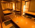 10名様から最大54名様までの大型宴会個室ございます!54名様までご利用可能のお部屋なの会社宴会などの大型宴会にもご安心してご利用いただけます。仙台駅から徒歩3分なので大人数の宴会でもラクラク集まっていただけます♪広々とした掘りごたつ式のお席で寛ぎながらお食事をお楽しみいただけます。
