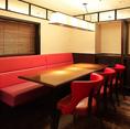 落ち着いた空間でデートや女子会にも◎最大40名様まで貸切も可能な個室となってます。