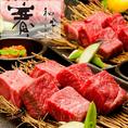 同ビル8階には当店直営「和牛 賽」がございます。北海道産黒毛和牛の焼肉専門店。他にはない厚切りでご提供致します。