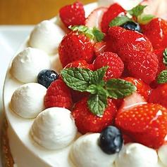 ホールケーキ&メッセージで記念日サプライズ♪