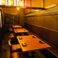 6名様から40名様の個室も各種あります。中規模の会社宴会、プライベート飲み会など色々なシーンでご利用ください。雰囲気もお洒落で、プライベート感たっぷりです!歓送迎会など各種宴会にも使いやすい。