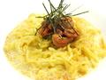 料理メニュー写真ウニボナーラー麺