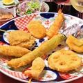 料理メニュー写真橘(串揚げ8本+サラダ+お通し)