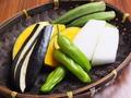 料理メニュー写真旬の野菜盛り