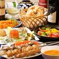 【ウズベクコース 3500円】※要予約 プラス2000円で飲み放題2H付き。歓送迎会や忘新年会のパーティに最適です。ウズベキスタン料理とコースは要予約のものが多くなっております。詳細はお問合せください。