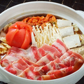 料理メニュー写真完熟トマトの豚キムチ鍋