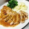 料理メニュー写真天草梅肉ポークのハニーマスタードソース