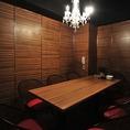 【2階】 テーブル仕様の7名様向け個室
